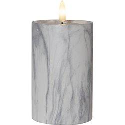 LED Blockljus FLAMME MARBLE i betong