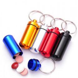 Piller- Medicin- Tablett-burk/kapsel/behållare på nyckelring