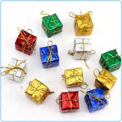 12 st små söta Julklappar, Paket, Julpynt, Julgranspynt