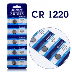 Batteri, CR1220, 1220, 3 volt, 5-pack
