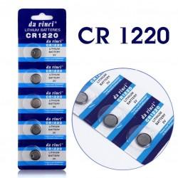 Batteri, CR1220, 1220, 3 volt, 5-pack
