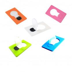 5st Kreditkortslampor Multipack vit, grön, blå, orange, rosa