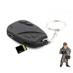 Spionkamera gömd i nyckelring + 8GB minneskort DVR808