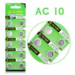 Batteri AG10 LR54 LR1130 389 390 10-pack, knappcell