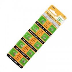 Batteri AG0 LR521 LR63 379A, 10-pack, knappcell