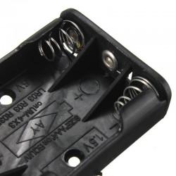 Batterikassett Batterihållare Batterilåda för 3*AAA