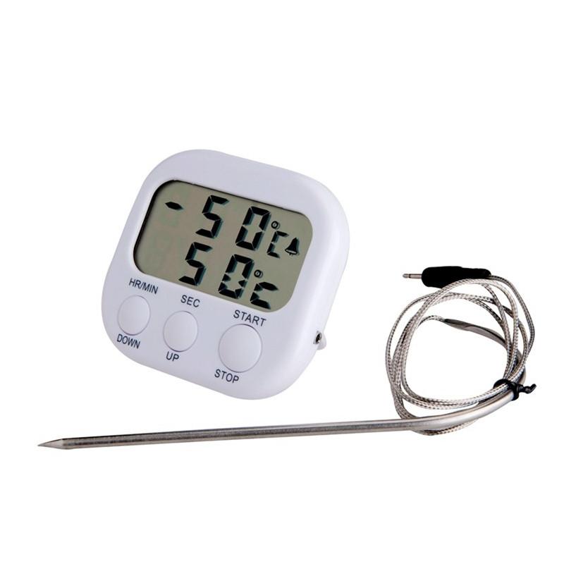 Timer & Ugnstermometer i ett - Kökstermometer - Skinktermometer