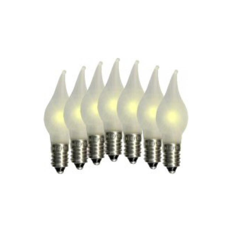 7 st LED-lampor till Adventsljusstakar Elsnåla E10