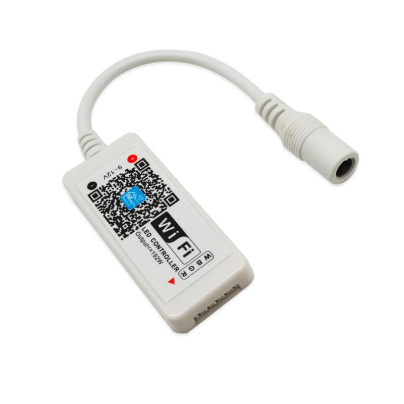 Trådlös RGB-LED-styrning via wifi och mobilen