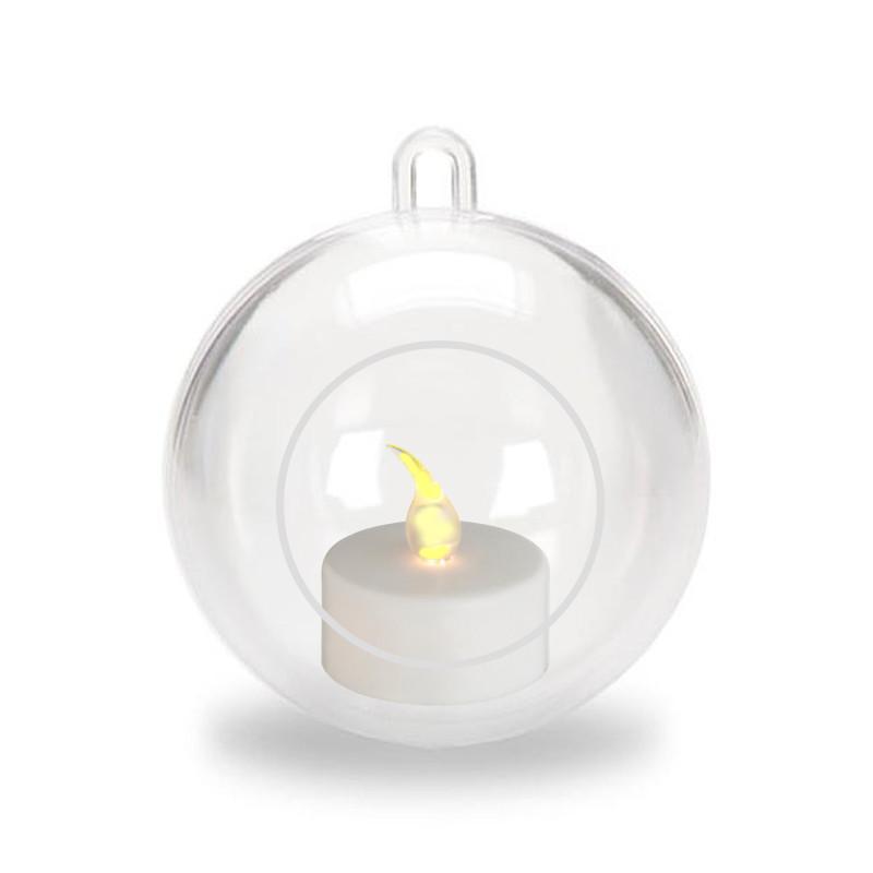 Julgranspynt Julgranskula Julpynt Julkula med LED-värmeljus