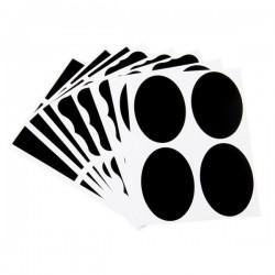 36 svarta tavlan-etiketter i 3 modeller, griffeltaveletikett, Blackboards