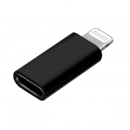 Adapterkontakt USB-C (hona) till iphone lightning (hane), svart