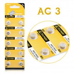10 st batterier av typen AG3 / LR41