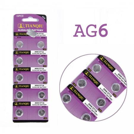 Batteri AG6 A370 A371 A171 LR69 LR920 LR921 10-pack knappcell