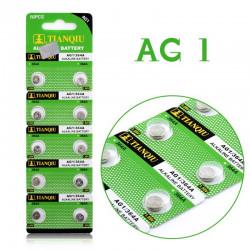 Batteri AG1 SR621 SR621SW LR621 SR60 LR60 10-pack knappcell