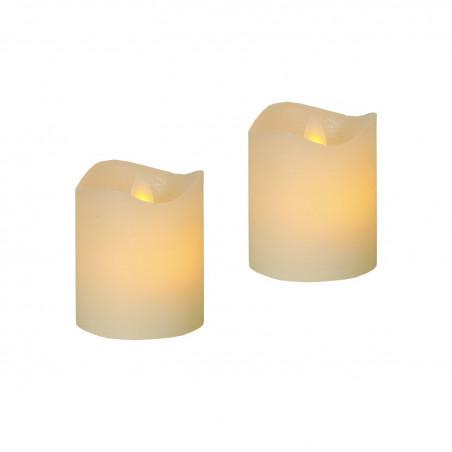 2-pack 6cm höga, söta Vax-LED-Ljus GLIM med TIMER