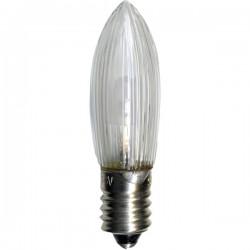 7-pack Klassisk universal LED-lampa för julljusstakar E10 10-55V