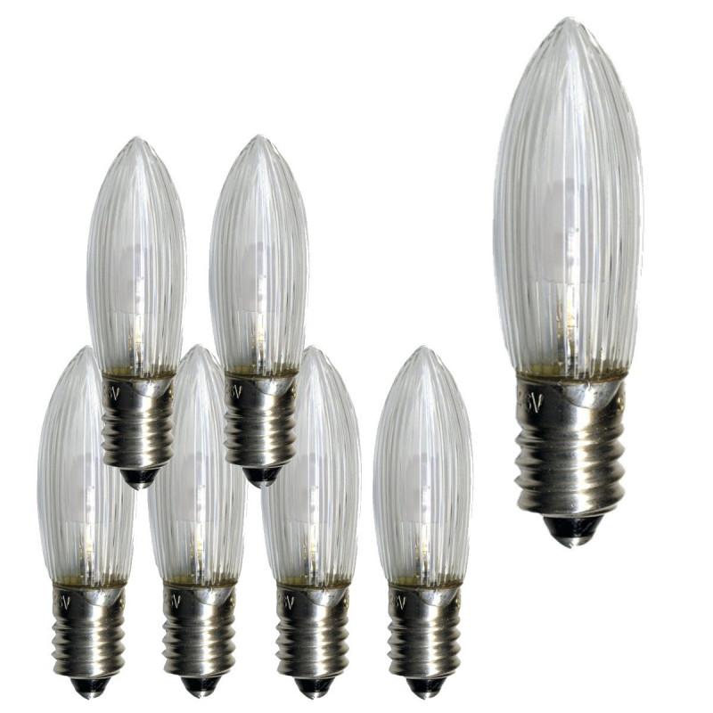 7-pack E10 Klassisk universal LED-lampa för julljusstakar
