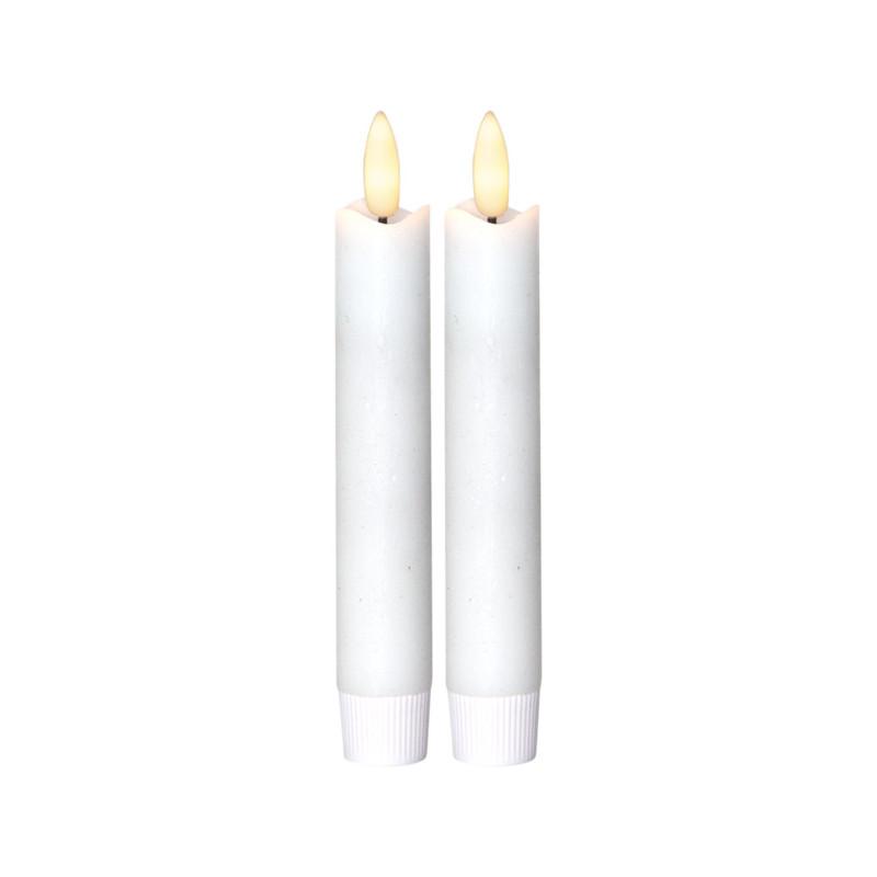 2 st Vax-LED-Antikljus, verklighetstrogen låga, Flamme med TIMER