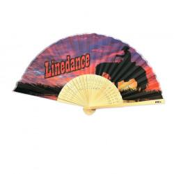 Solfjäder - Linedance i bambu