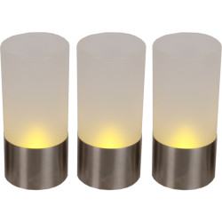 3-pack LED-ljuslykta Frost...