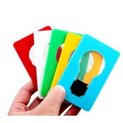 Kreditkortslampa (kreditkorts lampa), LED, endast 3 mm tjock.