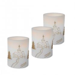 3 små gulliga LED Julljus...