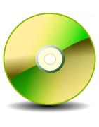 Kvalitetsskannade CD-skivor med beskrivande text och bild.